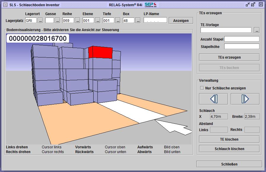 Blocklager Ansicht 3D
