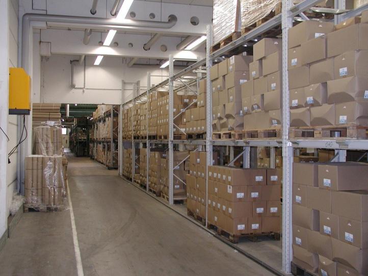 Lagerzonen im Kommissionierleitsystem