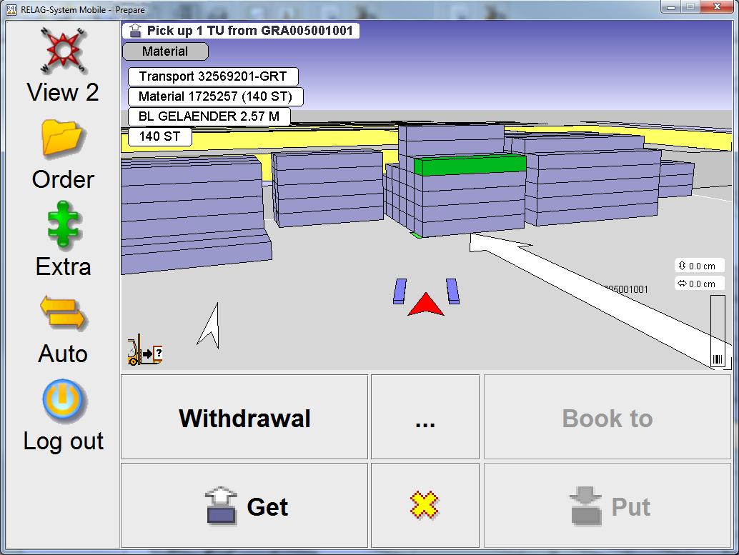 Navigation zur Warenaufnahme