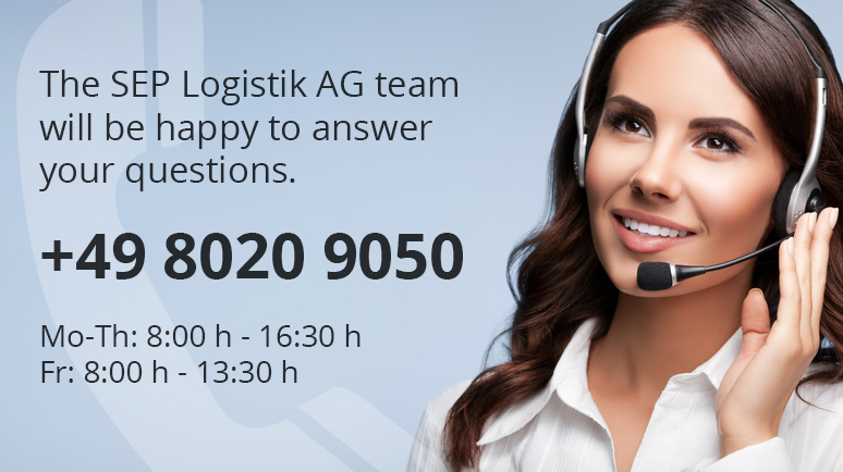 The SEP Logistik AG team will be happy to answer your questions.